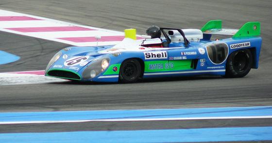 La Matra MS670 de Hill et Pescarolo vainqueur des 24 Heures du Mans 1972